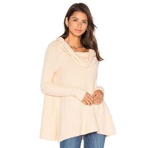 Free People Strawberry Fields Cowl Neck Sweater S